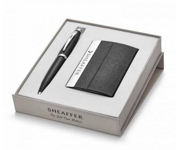9317 Ballpoint Pen With Business Card Holder