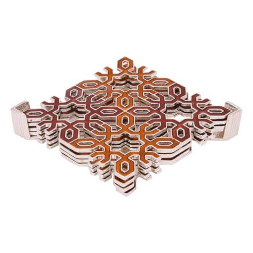 10068 – 6 Pc Square Coasters (Architect Pattern) with Stand
