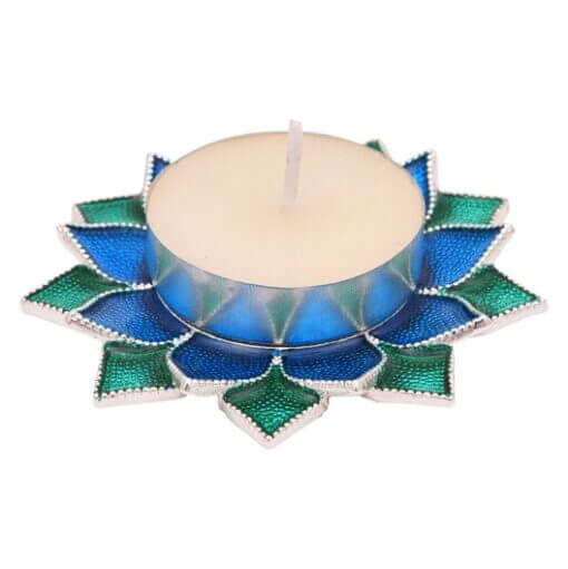 double lotus tealight base
